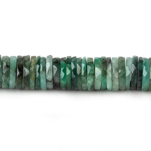 9-9.5mm Brazilian Emerald Faceted Heshi Beads 7 inch 83 pieces - Beadsofcambay.com