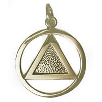 Brass, Textured Triangle Pendant, Medium Size, Antique Finished - Style #09-1