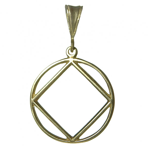 Style #1181, Large Size, Brass Pendant, NA Symbol in a Smooth Wire Style