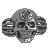 Sterling Silver, $65-$95, Narcotics Anonymous Symbol Mens Skull Ring - Style #1157