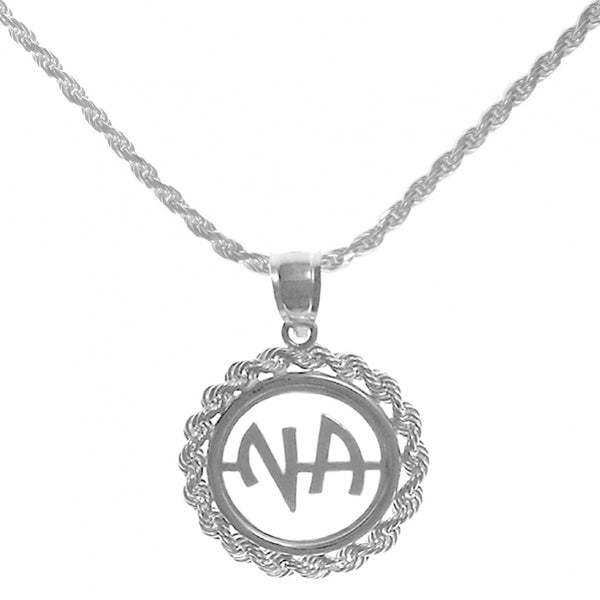 Set of Narcotics Anonymous Initial #39 Pendant  with #215 Rope Chain, $66-$78, Chain Available in 3 Different Lengths - Style #1205