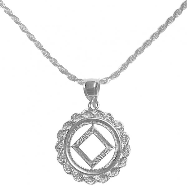 Set of Narcotics Anonymous Symbol #482 Pendant  with #215 Rope Chain, $67-$79, Chain Available in 3 Different Lengths - Style #1214