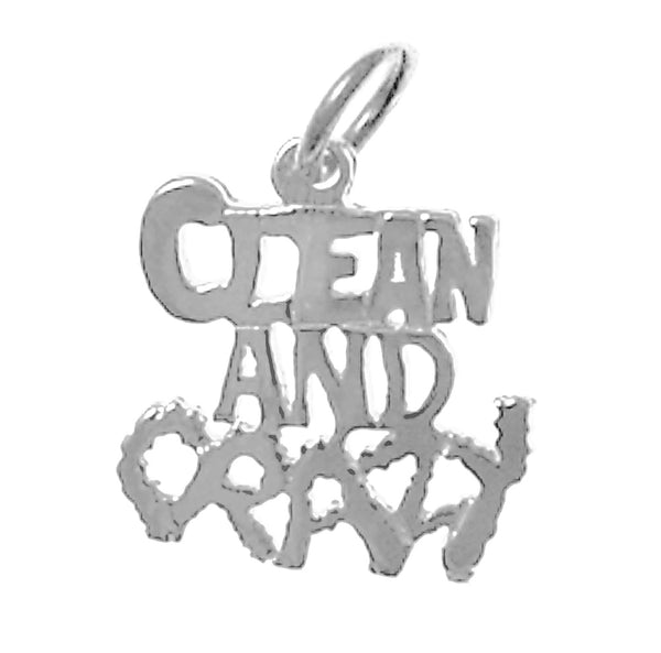 "Sterling Silver, Sayings Pendant, ""Clean And Crazy"" - Style #148-15"