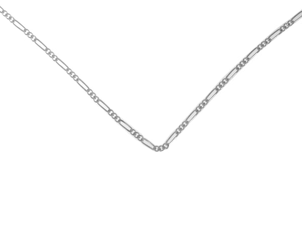 "20"" Lt. Figaro Chain, Sterling Silver - Style #217"
