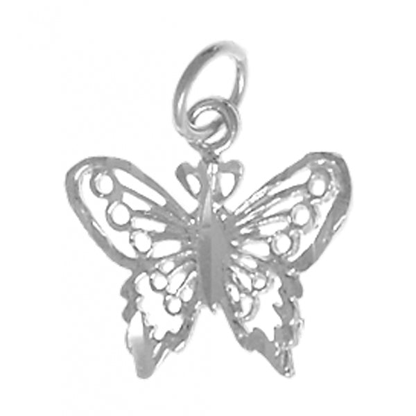 Sterling Silver, Beautiful Small Butterfly Pendant, - Style #220-16