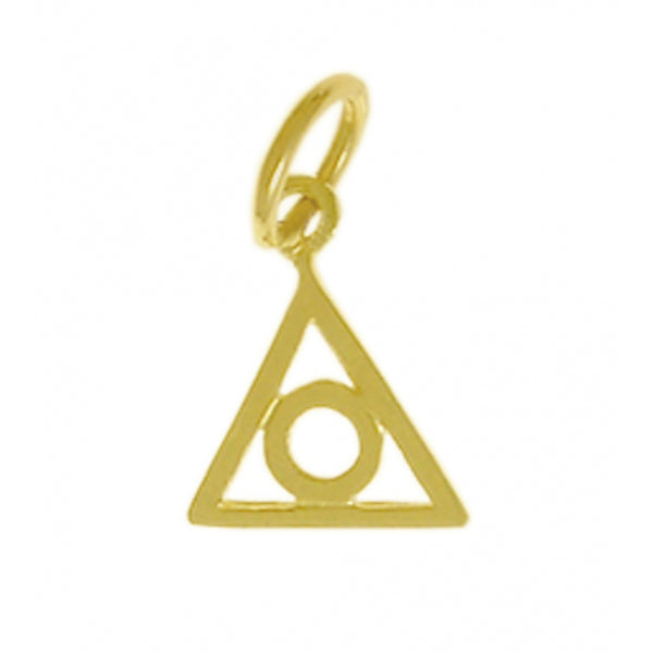 Style #225-16, 14k Gold Pendant, Family Recovery Symbol, Small Size