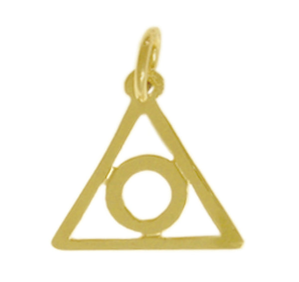 Style #226-16, 14k Gold Pendant, Family Recovery Symbol, Medium Size