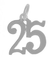 Sterling Silver, $7 - $10, Numerals for Celebrating All Occasions; Anniversary, Birthdays - Style #233