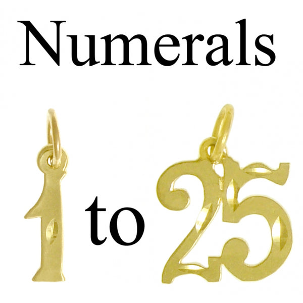 Style #237, 14k Gold, Numerals for Celebrating All Occasions; Anniversary, Birthdays