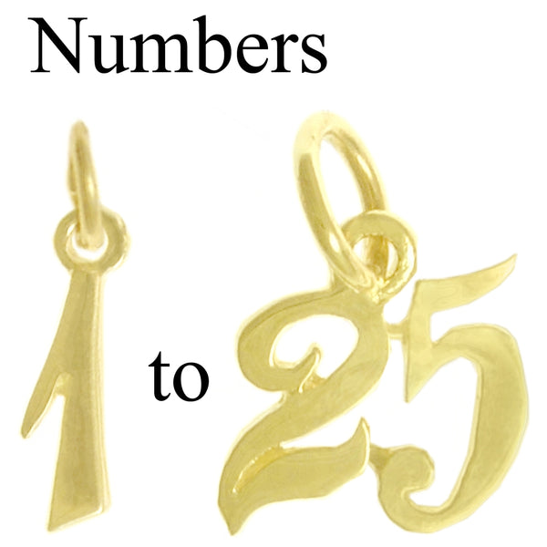 Style #245, 14k Gold, Numerals for Celebrating All Occasions; Anniversary, Birthdays