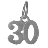 Sterling Silver, $5 - $8, Very Tiny Numerals for Celebrating All Occasions; Anniversary, Birthdays - Style #254