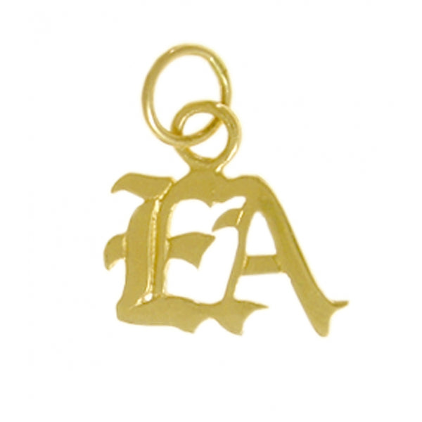 "Emotions Anonymous (EA) Pendant, 14k Gold, Small ""EA"" Initials - Style #323-16"