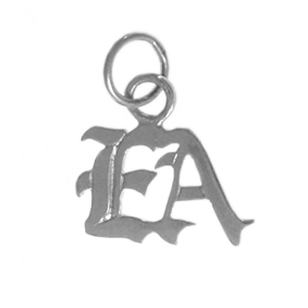 "Emotions Anonymous (EA) Pendant, Sterling Silver, Small ""EA"" Initials - Style #323-16"