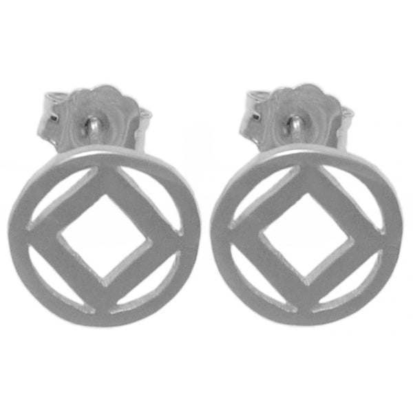 Style #373-13, Sterling Silver Earrings, NA Symbol Small Stud Earrings