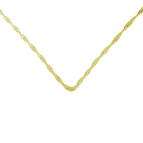 Style #498-14, $150-$295, Singapore Chain, 14k Gold, Available in 3 Different Sizes