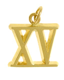 14k Gold, Roman Numerals for Celebrating All Occasions; Anniversary, Birthdays - Style #512