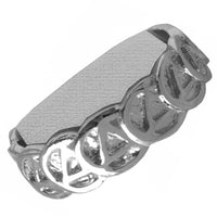 Sterling Silver, $46-$54, Ring with Continuous Alcoholics Anonymous Symbol Circle Triangle Band - Style #522-7
