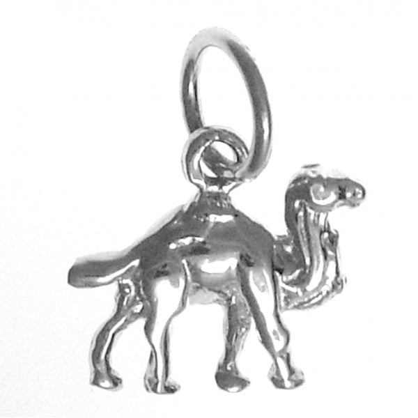 "Sterling Silver Pendant, Adorable Camel ""Can Go 24 Hours Without A Drink"" - Style #526-16"