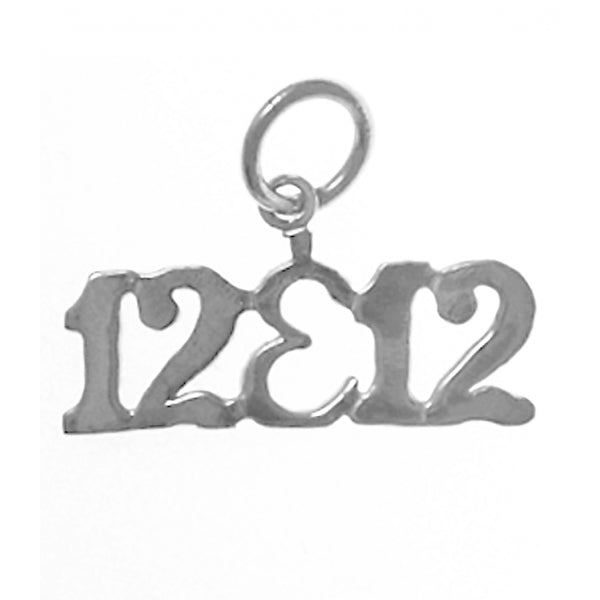 "Sterling Silver, Sayings Pendant, ""12&12"" - Style #638-15"