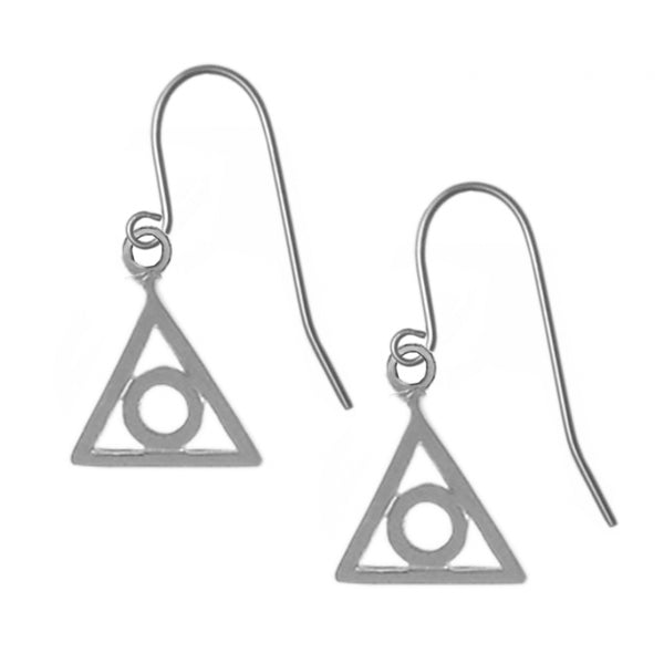 Style #721-13, Sterling Silver Earrings, Family Recovery Symbol