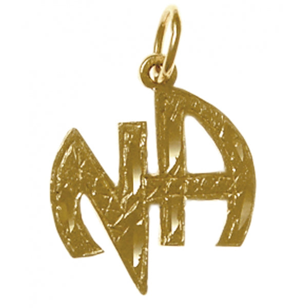 "Style #819-11, Brass, ""NA"" Initials Pendant, Antiqued Finish"