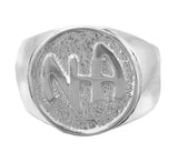 "Sterling Silver, $45-$63, Mens Ring with ""NA"" Initials - Style #89-12"