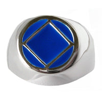 Sterling Silver, $40-$50, Narcotics Anonymous Symbol with Blue Enamel - Style #952-12