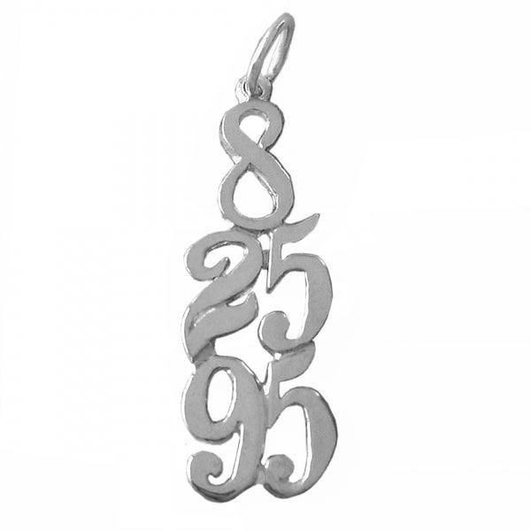 Style #406, Sterling Silver, Custom Dates Celebrating All Occasions; Recovery, Anniversary, Birthdays