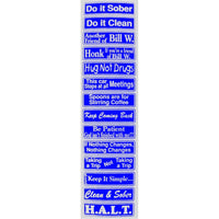 """Multiple Saying Strip"" Bumper Sticker, Available in 3 Colors, Size 11-1/2"" x 3"" - Style #ST55"
