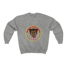 Load image into Gallery viewer, Crewneck Sweatshirt Born For War African American Girl