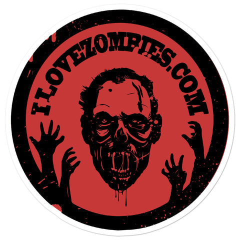(Sticker) Floating Zombie Head Of Undeath