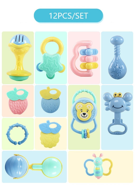 Soft Rattles Shaker Teether Infant Toys - BrightBailey