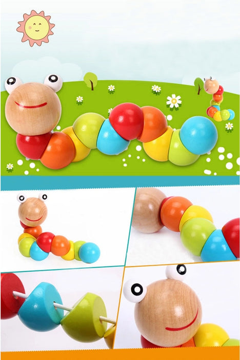 Worm Twist Puppet Cognition Toys - BrightBailey