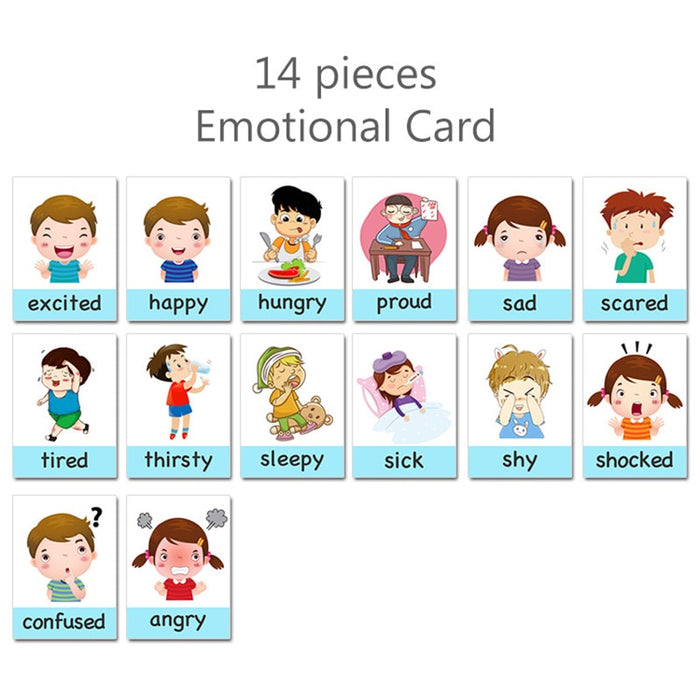 Cartoon Emotion Flash Cards For Children - BrightBailey