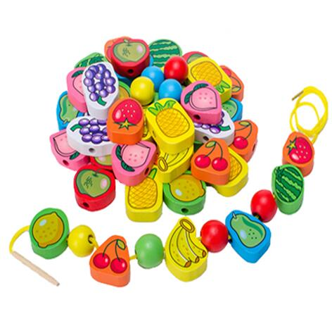 Animal Fruit Block stringing beaded Toys - BrightBailey
