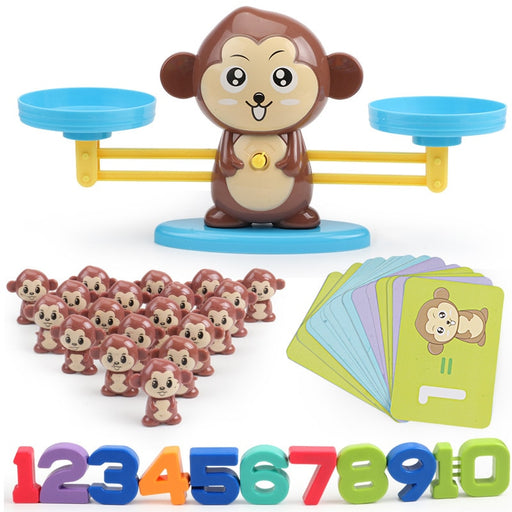 Monkey Math Match Game Board Toys - BrightBailey