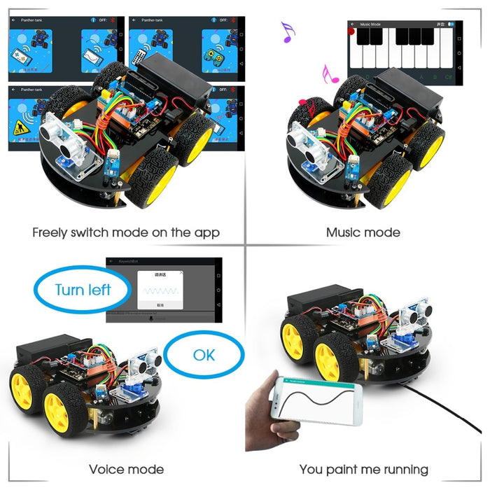 Remote Control Bluetooth Robotics Learning Kit - BrightBailey