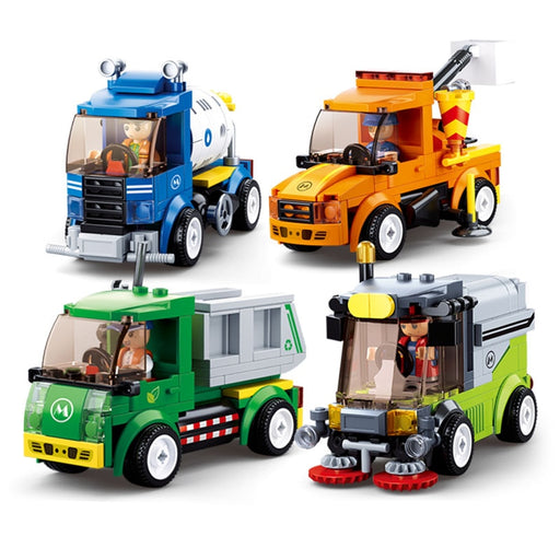 City Town Building Block Truck Toy - BrightBailey