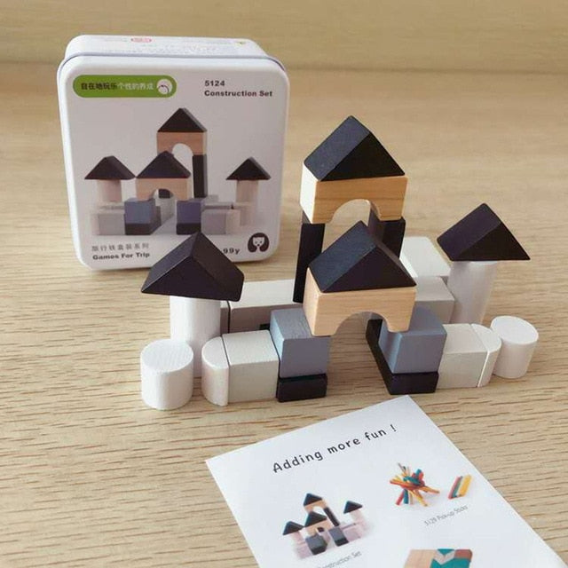Wooden Early Learning Building Block Toys - BrightBailey