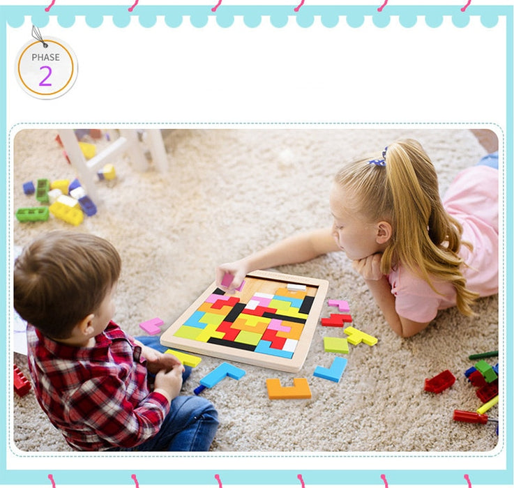 Children wooden educational Game Toy - BrightBailey