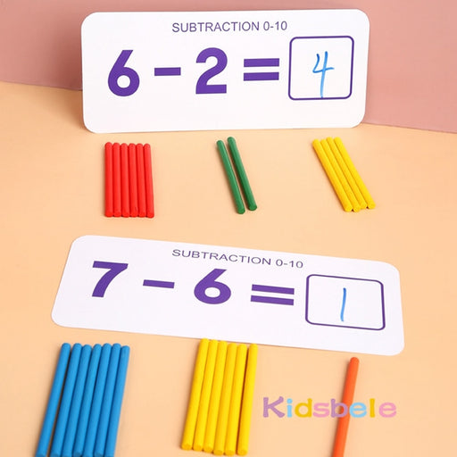 Counting Wooden Sticker Kids Toy - BrightBailey