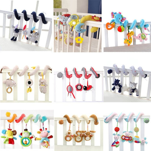 Animal Rattle Mobile Infant Stroller Toys - BrightBailey