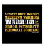 Branded Warrior Values T-Shirt - Army