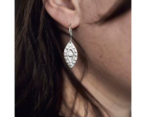 Eye of Protection earrings -Silver
