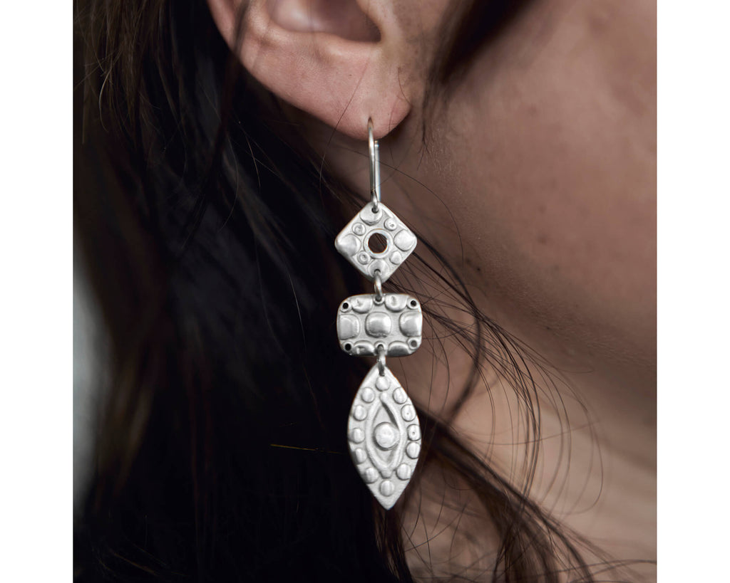 New Ideas Connect You To The Truth earrings -Silver