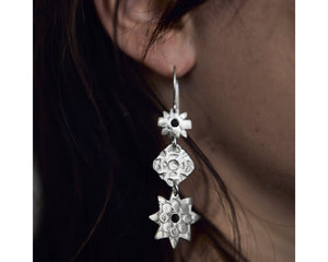 Wish Upon a Star, Your Dreams Will Come True earrings -Silver