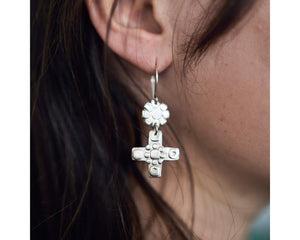 Rebalance and Grow earrings -Silver