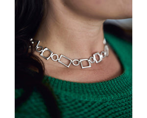 Loving is Easy Chain Necklace -Silver