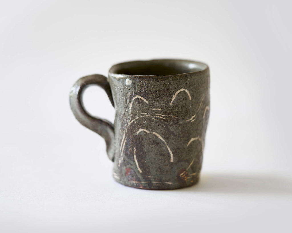 Mug with Cloud and Wind pattern by Scott Brough