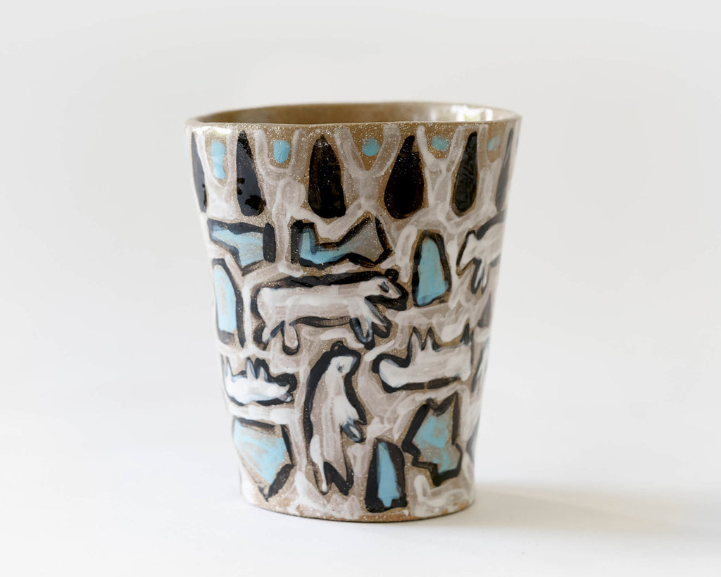Marg and Leanne Culy colab plant pot- Polar